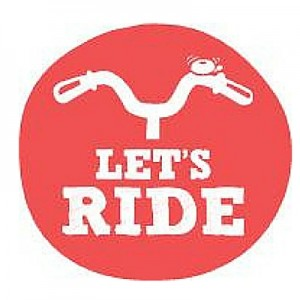 Let's Ride logo canva